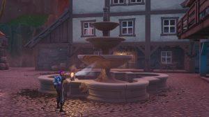 Spray a Fountain, Junkyard Crane, and Vending Machine in Fortnite